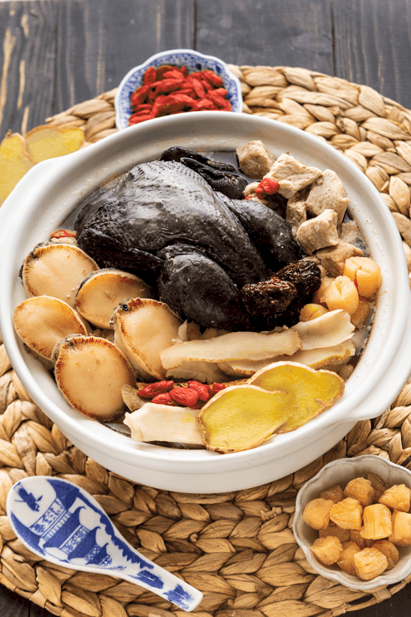 Buddha Jumps Over The Wall Soup in a pot