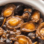 Braised Abalone with Mushrooms in a pot