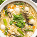 Sup Mang Cua in a bowl