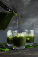 Pennywort drink bring poured into cups