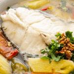 Vietnamese Sour Soup in a bowl.