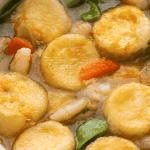 Seafood tofu in a claypot.