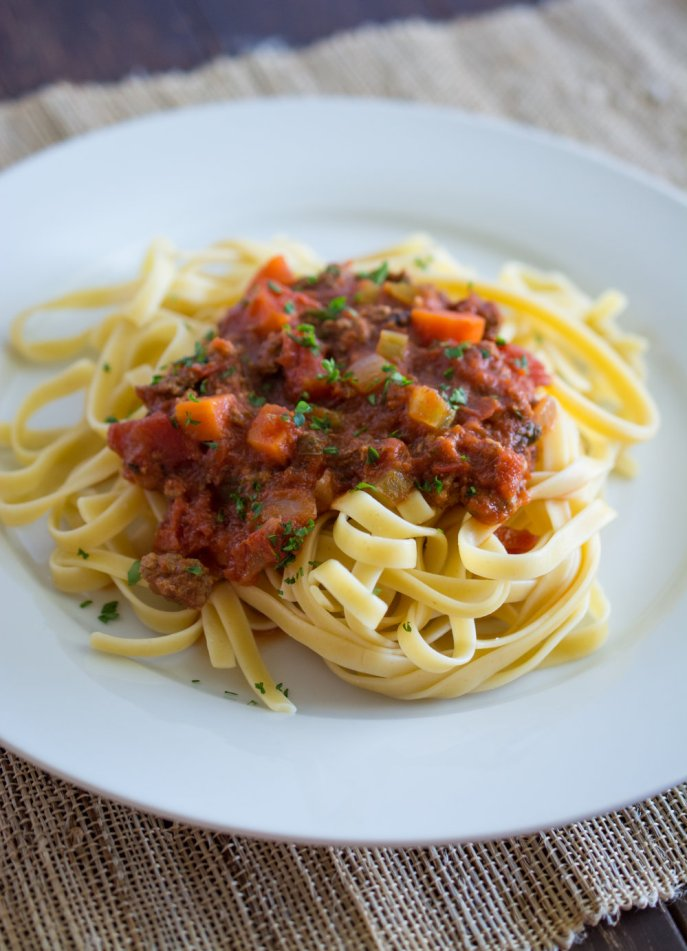 bolognese with fettuccini