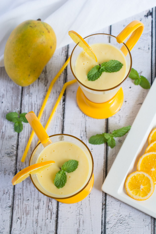 Smooth, refreshing and delicious Mango and Orange Lassi. A smoothie you can enjoy during any season, and pairs exceptionally well with spicy dishes.