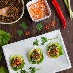 Lemongrass Pork Bahn Mi Lettuce Wraps