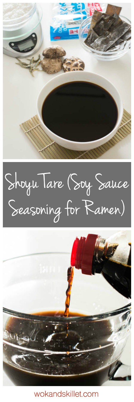 Shoyu Tare is the soy sauce seasoning and concentrated flavor base used in Japanese Shoyu Ramen; one of the most important elements in a good bowl of ramen.