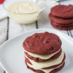 Red Velvet Chocolate Chip Cookies with Cream Cheese Frosting
