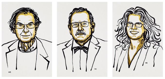 Nobel Prize winners Penrose, Genzel and Ghez