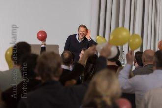 Tobias Beck mit Bewohnerfrei in der Cloud. Foto: A. Hasenkamp, Fotograf in Münster.