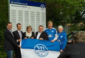 Sponsor-Partnerschaft mit der Vereinigten Volksbank hilft dem VfL auch beim Projekt Kunstrasenplatz