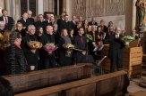 Blumensträuße für Solisten und Leitung beim Passions-Konzert.