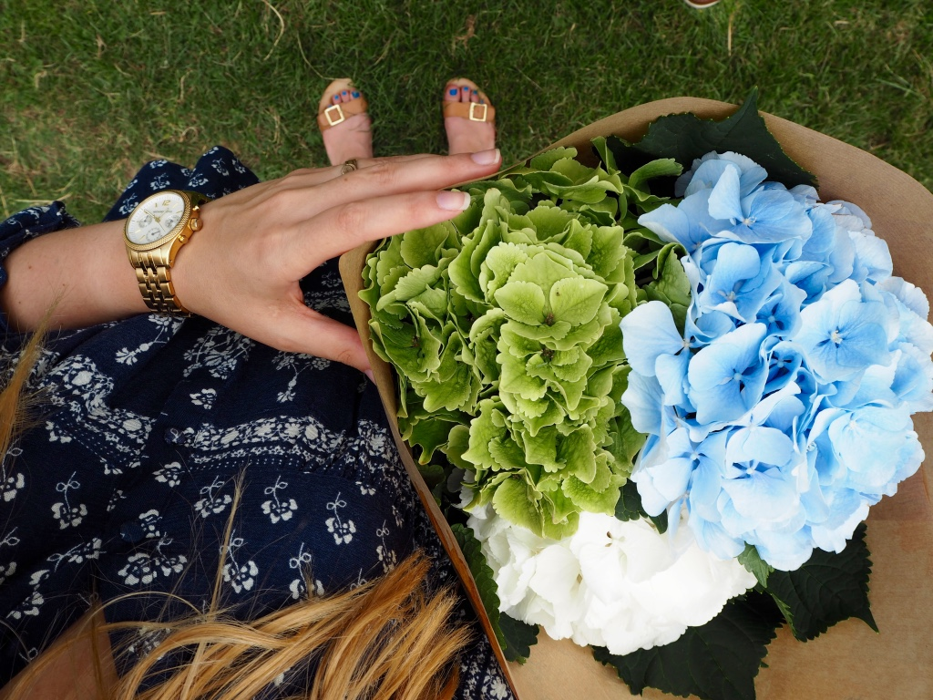 Style - Summer Loving Peasant Top - Fresh flowers from Columbia Road and a Michael Kors watch