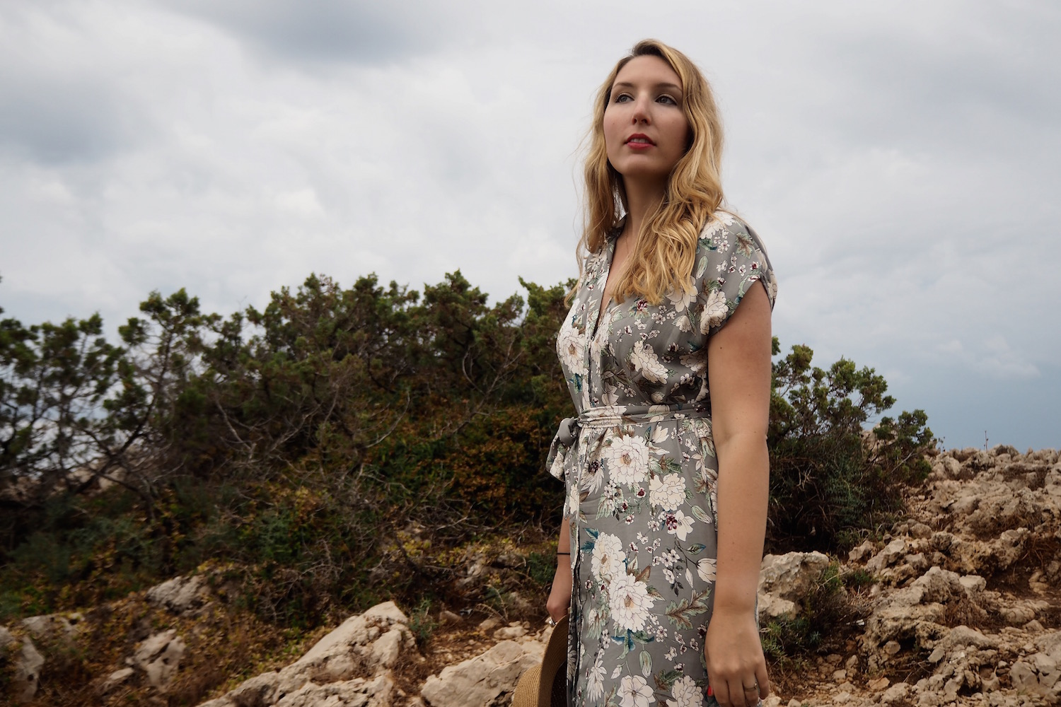 A magical vintage-style floral dress by Zara
