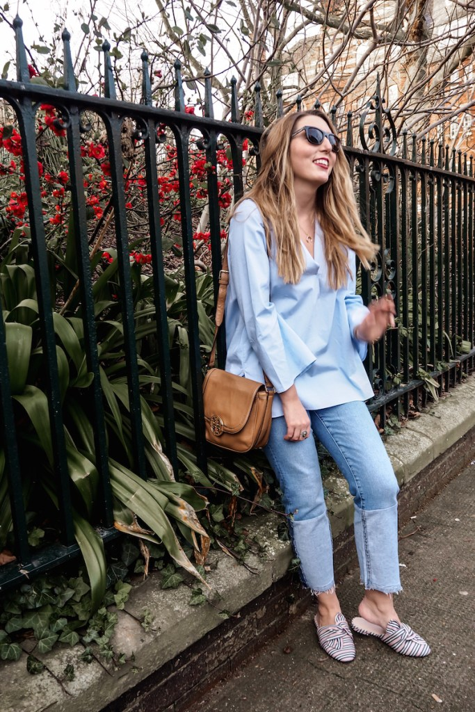 Mango Top   Mango Jeans   ASOS striped mules   Wolf & Stag