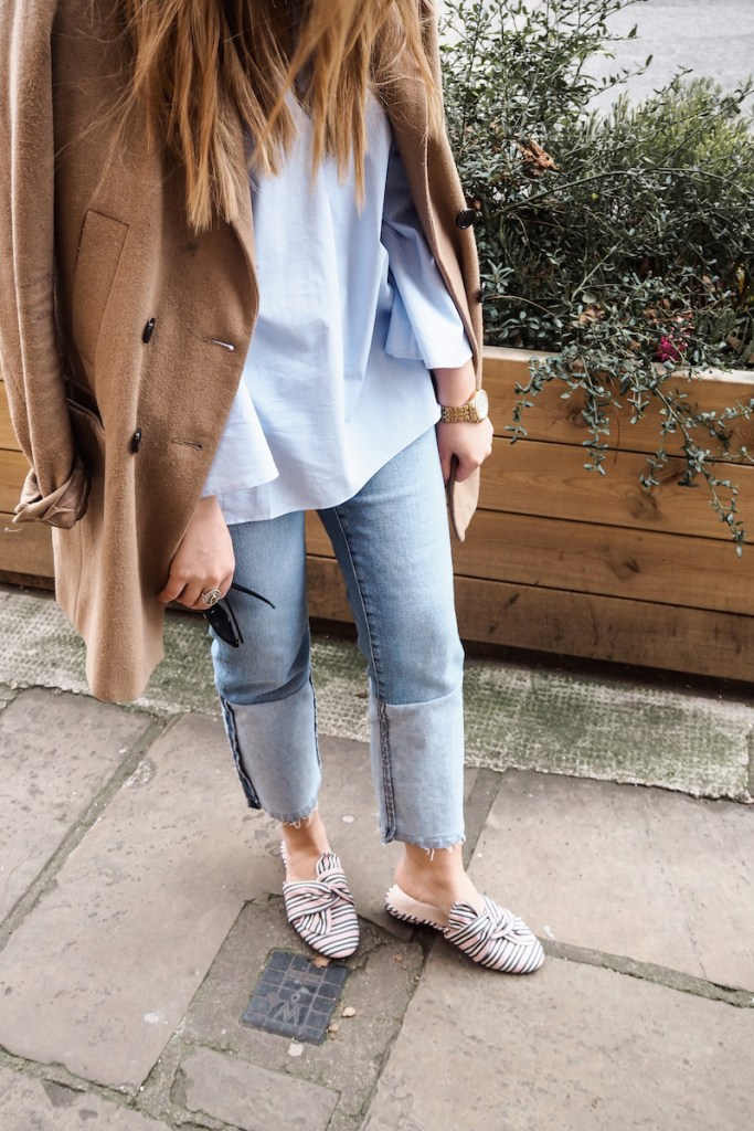 Mango Top | Mango Jeans | ASOS striped mules | Wolf & Stag