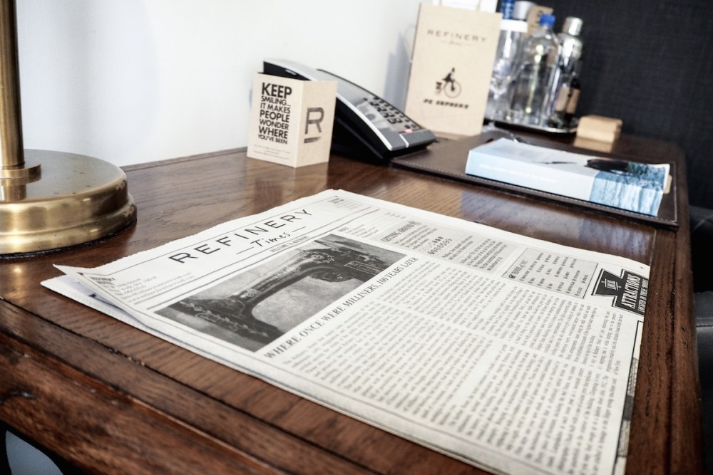 The Refinery Hotel - Newspaper Welcome Sheet | Wolf & Stag