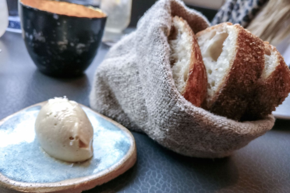 Fresh bread & butter at Pidgin, London   Wolf & Stag
