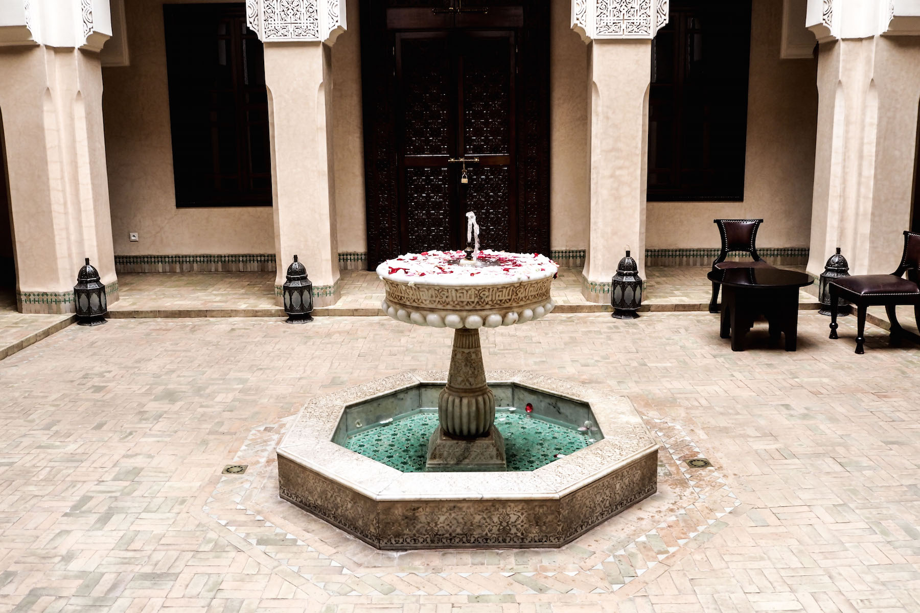 Fountains at Riad Kniza, Marrakech