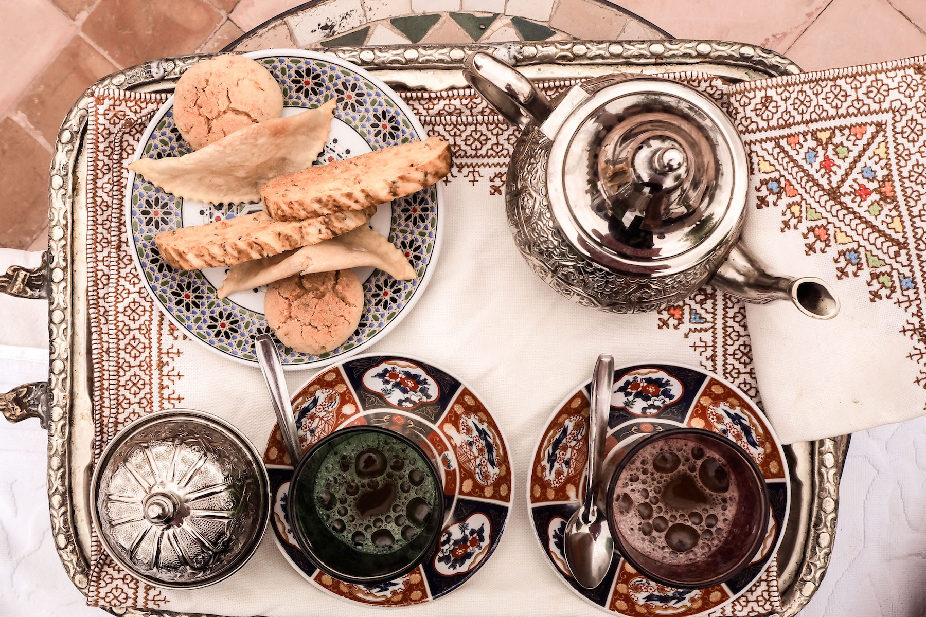 Traditional mint tea at Riad Kniza | Wolf & Stag's Travel Guide to Marrakech, Morocco