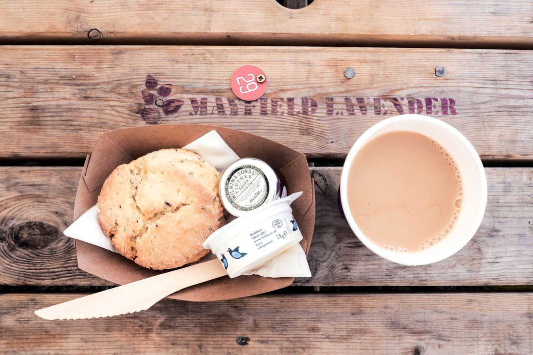 Lavender Scones in Mayfield Lavender, Lodon | Wolf & Stag