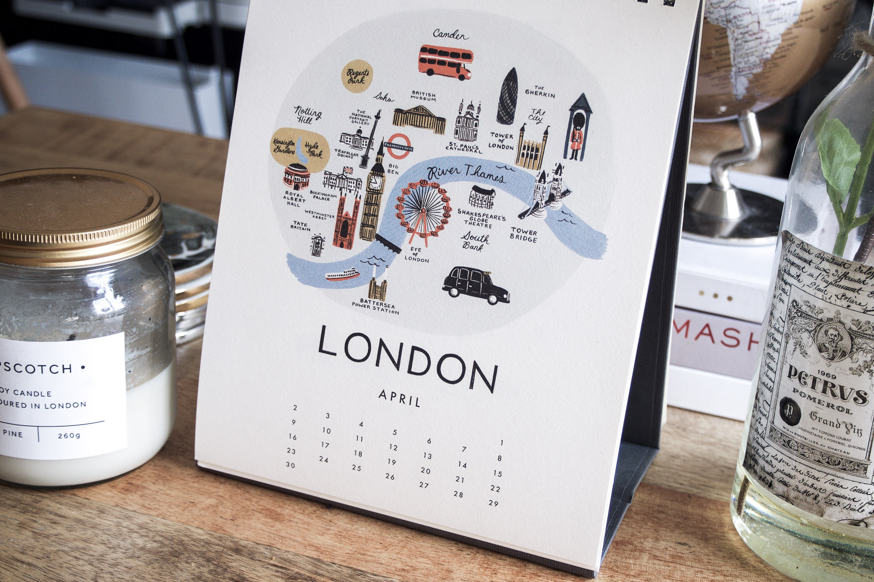 The Best London-Themed Prints to Show your London Love | Calendar from Rile Paper Co | Wolf & Stag