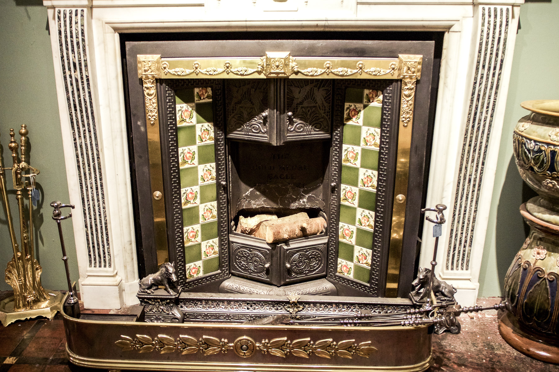 Discovering Antiques & Fireplaces at Westland London   Wolf & Stag