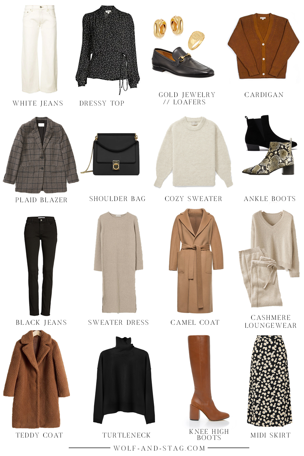 Autumn Winter Capsule Wardrobe 2019