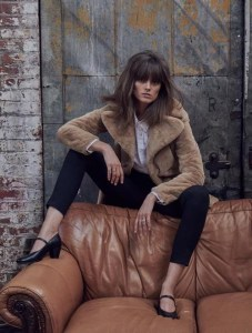 The Sustainable Winter Coat Edit | House of Fluff Teddy Peacoat