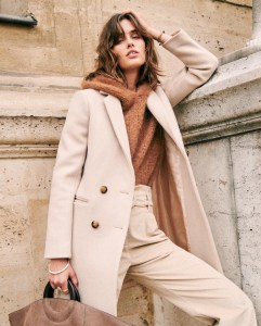 The Sustainable Winter Coat Edit | Sezane Johnson Wool Coat