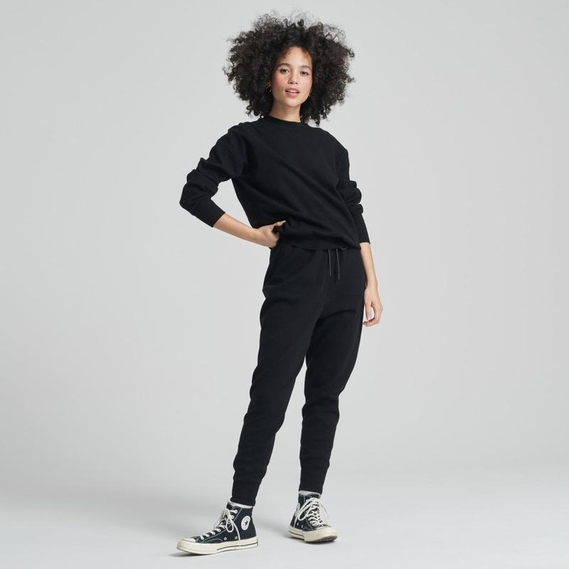 NADAAM Everyday Jogger and Sweatshirt in Black