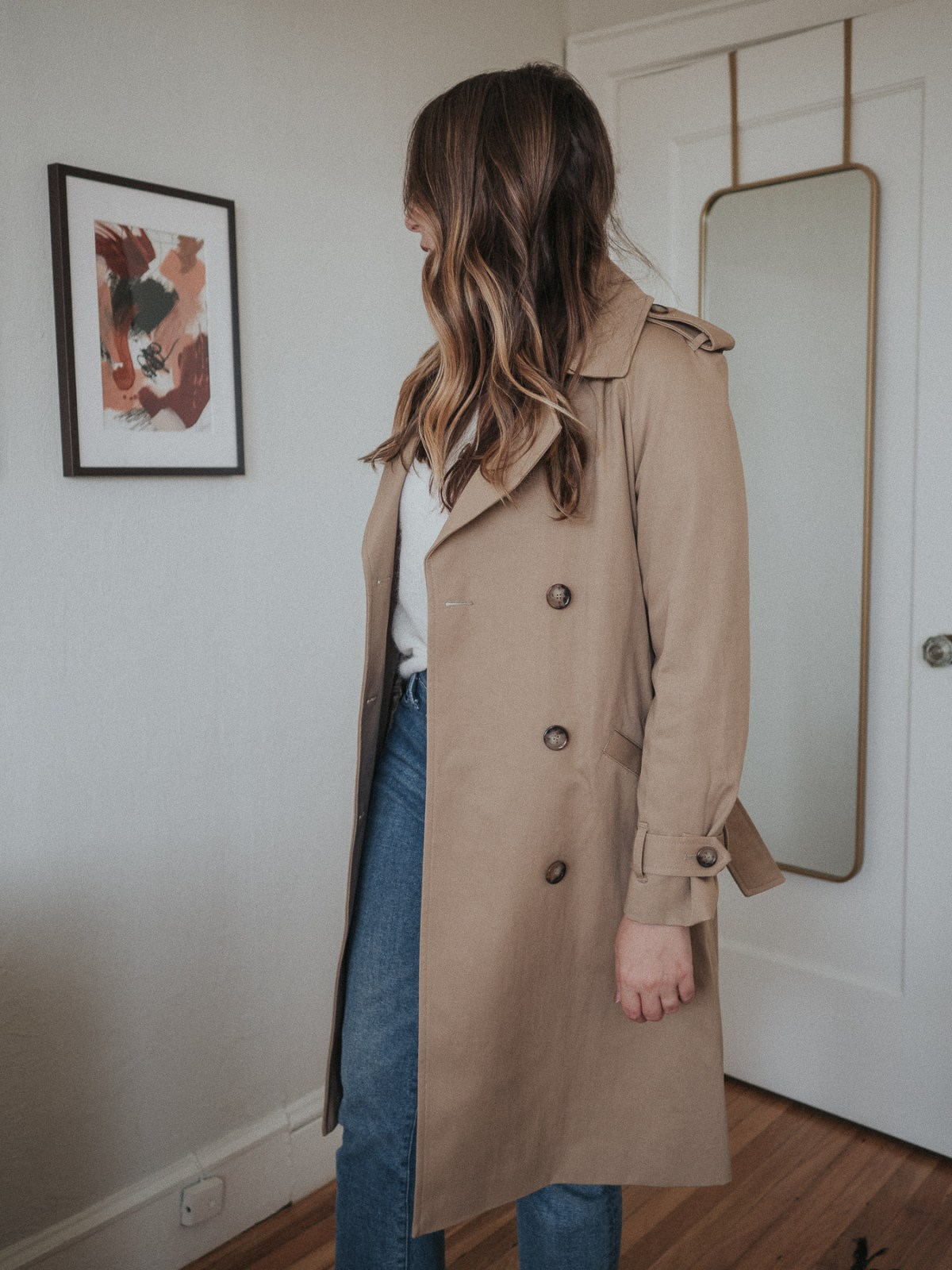 An honest review of Sezane | the Scott Trench in Camel | W&S