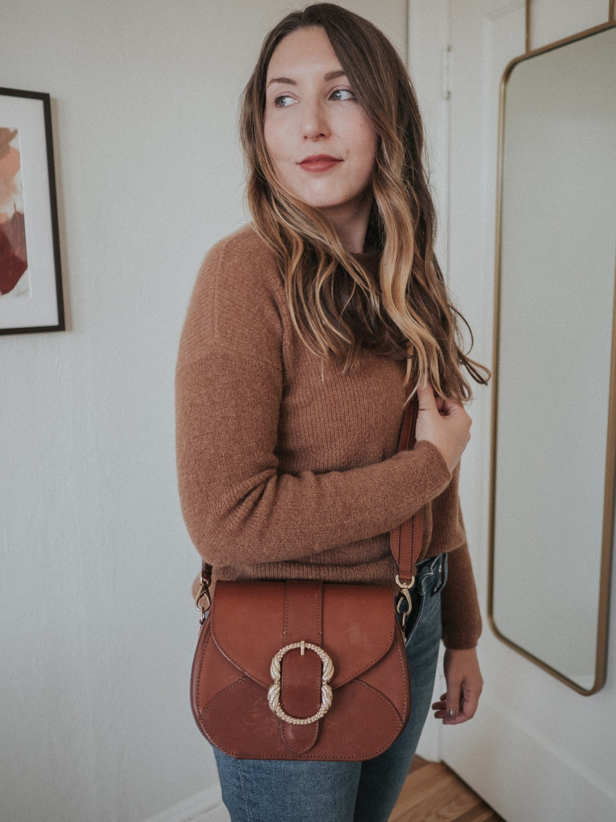 An honest review of Sezane | the Oli bag in Smooth Chocolate Heritage | W&S