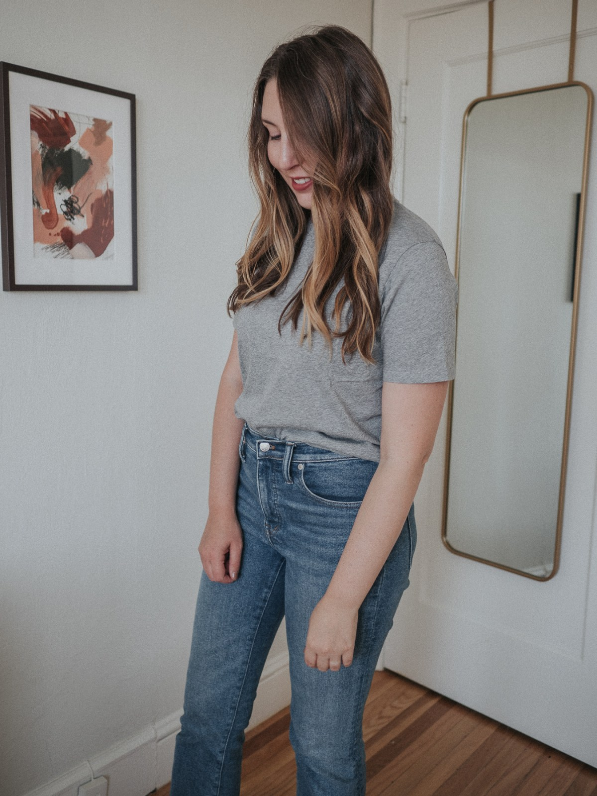 An honest review of Sezane | the Conrad tee in Light Grey Marl | W&S
