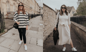 My Pregnancy Capsule Wardrobe feature | featuring two outfit combos that of non-maternity clothes that work perfectly during pregnancy | W&S