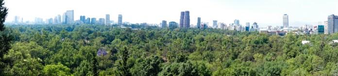 A Mexican vista from Bosque de Chapultepec