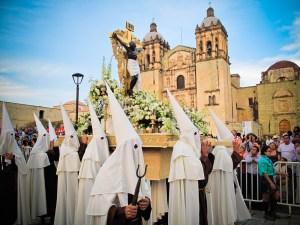 Viernes Santa (Good Friday) parade in Oaxaca.