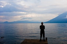 The Wolf contemplating the Lago de Atitlan in the evening light