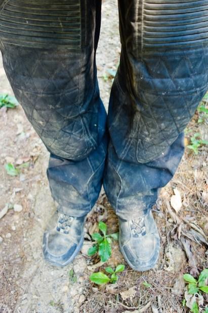 I got my Rev'It pants very muddy