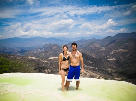 Mineral deposits, cool water and spectacular views at Hierve el Agua
