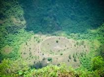 A view down the Boqueron Volcano