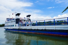 The big ferry we (and most of the island's churchgoers) took to the mainland