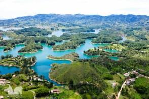 The gorgeous landscape around Guatape