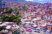 The sprawl of Medellin as seen from one of the cable cars providing access to the barrios
