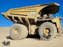 A Monster truck at the Escondida mine