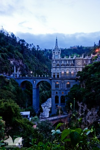 The Las Lajas Sanctuary close to Ipiales at the border between Colombia and Ecuador