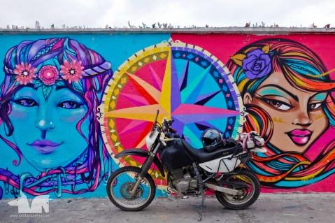Cool street art on our way to la Mitad del Mundo
