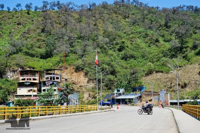 The bridge over Rio Canchis allows you to cross the border between Peru and Ecuador
