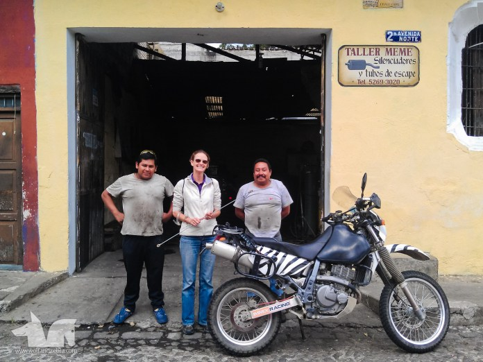 The Zebra posing with the crew of Meme taller de soldadura