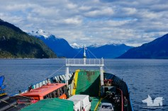 Views across the fjords on the Hornopieren - Lepetú Ferry