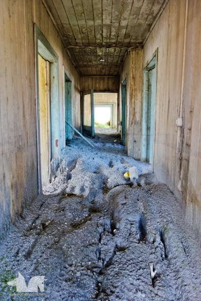 Inside a house that was buried in ash and mud in the 2008 activity of the Chaiten Volcano